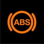 ABS warning light on